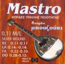 Mastro 011 Silver Σετ Χορδες 8χορδου Μπουζουκιού