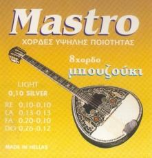 Mastro 010 Silver Σετ Χορδές 8χορδου Μπουζουκιού