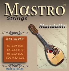 Σετ χορδές Μαντολίνου Mastro Silver Plated 009 Extra Light