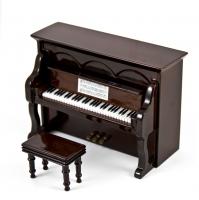 Μινιατούρα Πιάνο Όρθιο 10 x 6 x 8 cm (μαύρο)
